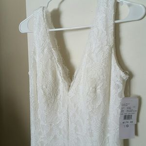 Ivory special occasion dresses. New with tags.